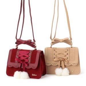 J-Fashion / Bags & Purses / LIZ LISA Laced-Up Pom Pom Bag