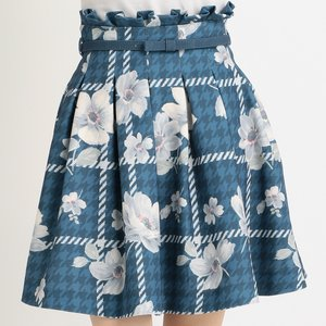 LIZ LISA Floral Plaid Houndstooth Skirt