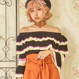 Swankiss Striped Knit Top