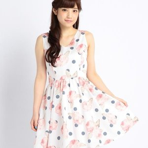 LIZ LISA Floral Polka Dot Dress