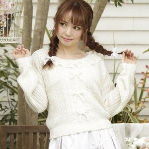 LIZ LISA Lace Collar Knit Top