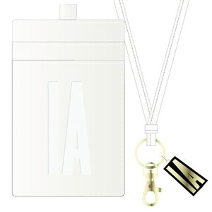 IA Enamel Pass Case w/ Neck Strap