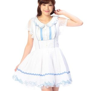 LIZ LISA Embroidered Ribbon Pinafore Dress