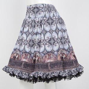 Ozz Oneste Painting Pattern Reversible Skirt