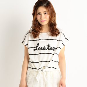 LIZ LISA Front Tie Striped T-Shirt
