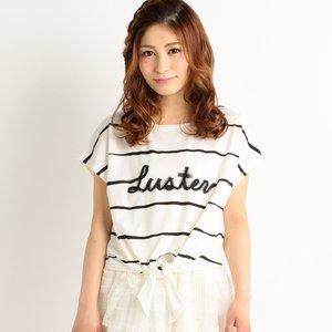 J-Fashion / Tops / LIZ LISA Front Tie Striped T-Shirt