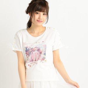 LIZ LISA Lace-Up Sleeve T-Shirt