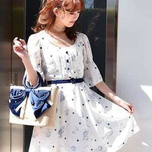 LIZ LISA Dot Rose Dress