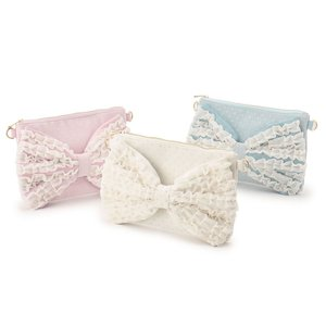 LIZ LISA Frilled Ribbon Clutch Bag