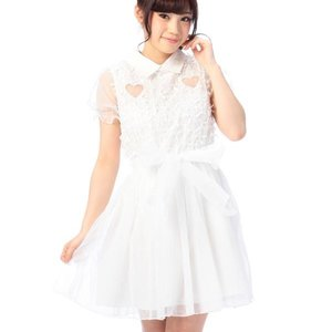 LIZ LISA Heart Ribbon Mesh Dress w/ Official LIZ LISA Shop Bag