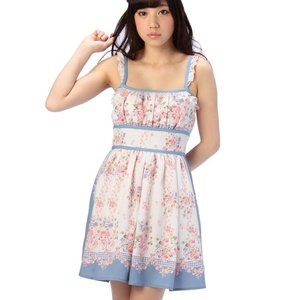 LIZ LISA Flower Bandana Camisole Dress w/ Official LIZ LISA Shop Bag