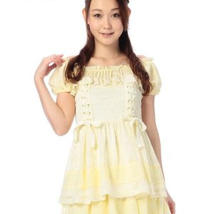 LIZ LISA Lace Ribbon Top