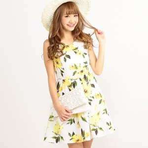 LIZ LISA Vivid Flower Dress