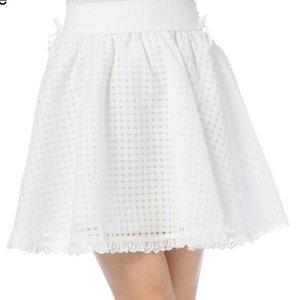 LIZ LISA Gingham Checkered Skirt
