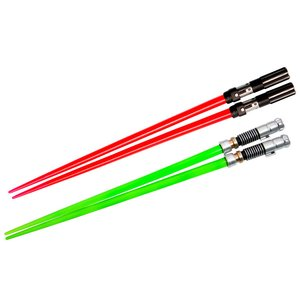 Home & Kitchen / Chopsticks & Cutlery / Star Wars Lightsaber Chopsticks: Darth Vader & Luke Skywalker Battle Set