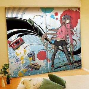 Home & Kitchen / Home Decor / Aka Ringo Illustrated Curtains
