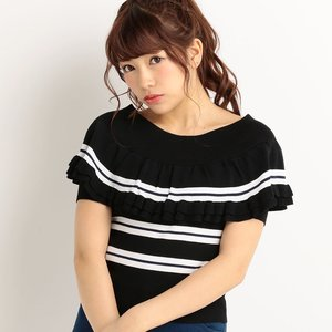 LIZ LISA Multi Stripe Top