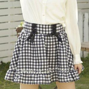 LIZ LISA Gingham Sukapan Skirt