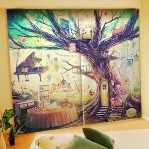 Akabane Illustrated Curtains