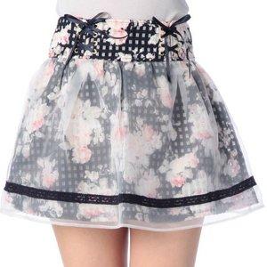 LIZ LISA Flower Sukapan Skirt