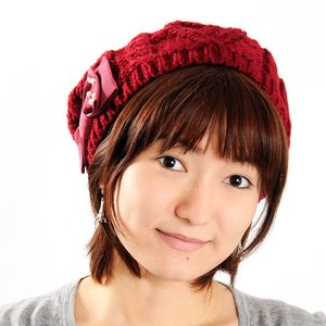 J-Fashion / Hats / Mignon Minette Pearly Ribbon Beret