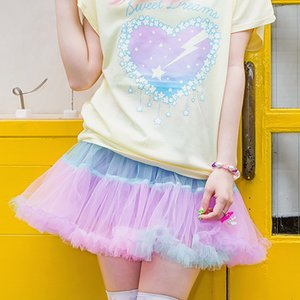 J-Fashion / Bottoms / LISTEN FLAVOR Tulle Pannier Skirt w/ Ribbon