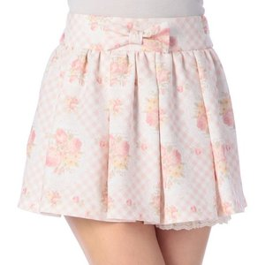 LIZ LISA Gingham Checkered Floral Skort