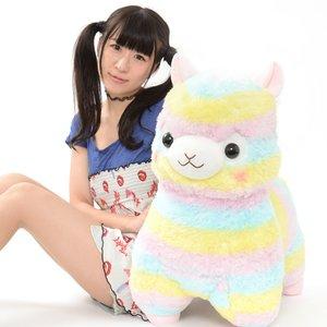 Rainbow Alpacasso Alpaca Plush (Super Jumbo)
