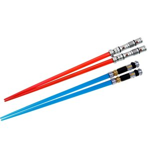Home & Kitchen / Chopsticks & Cutlery / Star Wars Lightsaber Chopsticks: Darth Maul & Obi-Wan Kenobi Battle Set