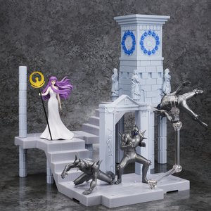 Figures & Dolls / Chibi Figures / D.D.Panoramation Saint Seiya Extension Set: Fire Clock of the Sanctuary -Goddess Athena and Soldiers-