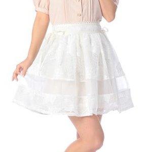 LIZ LISA Floral Mesh Skirt