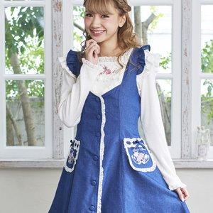LIZ LISA Rose Pocket Jumper Dress