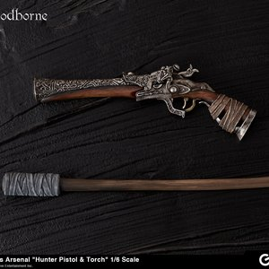 Figures & Dolls / Figure Accessories / Bloodborne Hunter's Arsenal: Hunter Pistol & Torch 1/6 Scale Weapon
