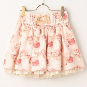 LIZ LISA Dot Floral Sukapan Skirt