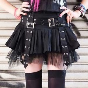 ACDC RAG Pleats & Belt Skirt