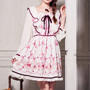LIZ LISA English Rose Frilly Shoulder Dress
