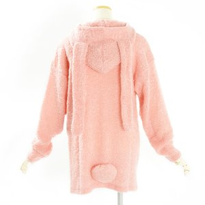 milklim Fluffy Lop-Eared Bunny Long Cardigan