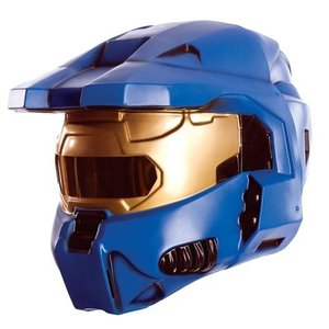 Otaku Apparel & Cosplay / Cosplay Props / Halo Blue Spartan 2-Piece Mask