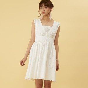 J-Fashion / Dresses / Honey Salon Flower Embroidery Dress