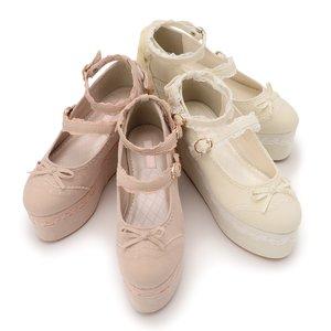 J-Fashion / Shoes / LIZ LISA Velour Lace-Up Platform Shoes
