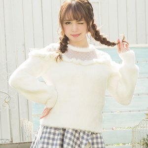 LIZ LISA Ribbon Knit Top