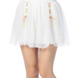 LIZ LISA Cambric Knit Sukapan Skirt