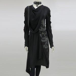 Ozz Conte Samurai 7 Dragon Print Drape Dress