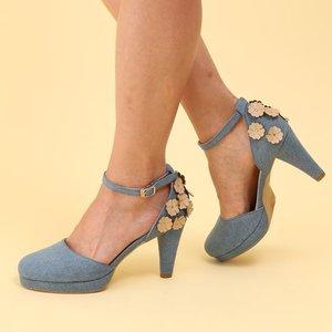 J-Fashion / Shoes / Honey Salon Flower Pumps (Denim)