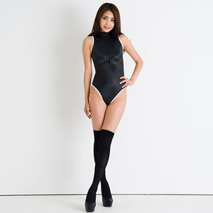 Otaku Apparel & Cosplay / Non-Character Cosplay / REALISE Front Zipper Competitive Swimwear Costume SSW (Black x White)
