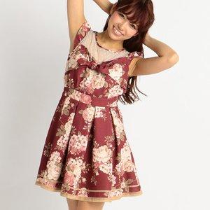 LIZ LISA Floral Ribbon Dress