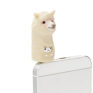 Stationery / Smartphone Accessories / Alpaca Kitten Earphone Jack Accessory