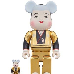 BE@RBRICK Gold-Plated Fukusuke 100% & 400%