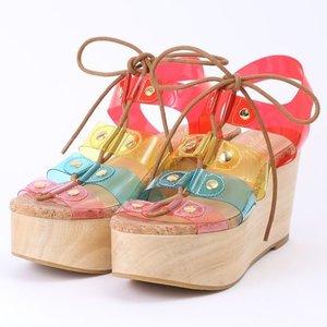 J-Fashion / Shoes / Honey Salon Transparent Laced Sandals