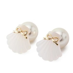 LIZ LISA Seashell & Pearl Earrings